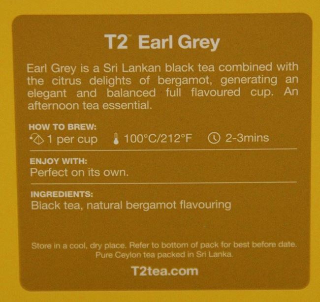 Picture of T2 EARL GREY TEA BAGS