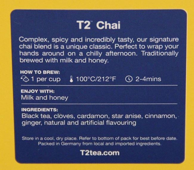 Picture of T2 CHAI TEA BAGS